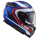 CAPACETE LS2 FF327 CHALLENGER FUSION BLUE/RED