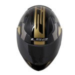 CAPACETE LS2 RAPID MEDAL BLACK/GREY/GOLD
