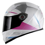 CAPACETE LS2 CLASSIC TYRELL WHITE/VIOLET