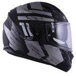 CAPACETE LS2 STREAM HUNTER MATTE BLACK/TITANIUM