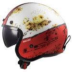 CAPACETE LS2 SPITFIRE RUST WHITE/RED
