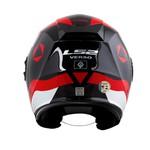 CAPACETE LS2 VERSO TECHNIK WHITE/BLACK/RED