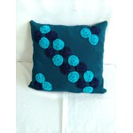 Almofada de Tecido Oxford Azul Petroleo