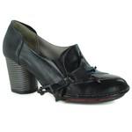Sapato Em Couro Lolla Alto Preto J.Gean