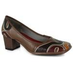 Sapato Em Couro Galeany Médio Amêndoa J.Gean