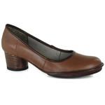 Sapato Em Couro Lolla Baixo Amêndoa J.Gean
