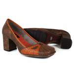 Sapato Em Couro Galeany Alto Laranja J.Gean