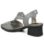 Sandália em Couro Marjorie Aço J.Gean BL0035-03
