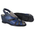 Sandália Em Couro Susan Anabela Alta Navy J.Gean