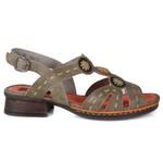 Sandália em Couro Emily Avelã J.Gean BO0024-02