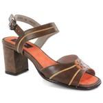 Sandália Em Couro Laranja BP0085 J.Gean