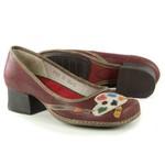 Sapato Em Couro New kelly Vermelho CK0002