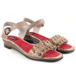 Sandália Em Couro Susan Baixa Pele J.Gean BN0015-02