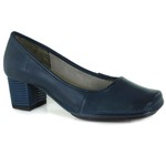 SAPATO EM COURO NAVY J.GEAN AMOSTRA ST0016-03