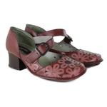 Sapato em Couro New Kelly Vermelho J.Gean