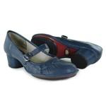 Sapato Em Couro Lolla Baixo Navy J.Gean