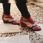 Sandália Susan em couro Vermelho J.Gean