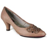 SCARPIN EM COURO TAUPE AMOSTRA ST0004-08