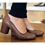 Sapato Em Couro Amêndoa AG0052 J.Gean