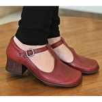 Sapato New Kelly Rouge Em Couro J.Gean
