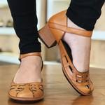 Sapato New Kelly Tangerina Em Couro J.Gean