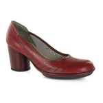 Sapato Em Couro Rouge AG0052 J.Gean