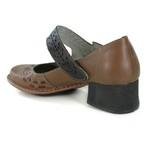 Sapato New Kelly Amêndoa Em Couro J.Gean
