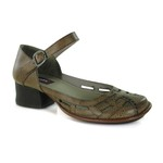 Sapato New Kelly Ocre Em Couro J.Gean