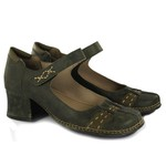 Sapato New Kelly Em Couro Oliva J.Gean