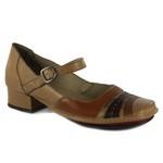 Sapato New Mariah Em Couro Taupe J.Gean