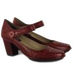 Sapato Ibizza Em Couro Rouge J.Gean