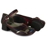 Sapato New Kelly Bordô Em Couro J.Gean