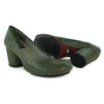 Sapato Lolla Alto em couro Oliva J.Gean