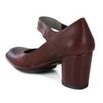 Sapato Lolla Alto em couro Vermelho J.Gean