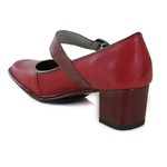 SAPATO EM COURO ROUGE J.GEAN AMOSTRA ST0080-02