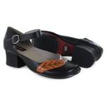 Sapato New Kelly Em Couro Preto J.Gean