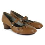 Sapato Lolla Baixo em couro Tamara J.Gean