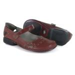 Sapatilha em couro New Exclusiva Vermelho J.Gean