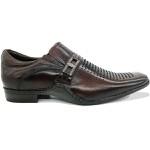 Calçado Sapato Social Em Couro Kéffor Cor Café Linha Detroit