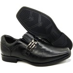 Calçado Masculino Sapato Social Em Couro Preto Kéffor Linha Metrópole New