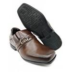 Calçado Infantil Sapato Social Em Couro Cor Marrom Kéffor Linha Óries