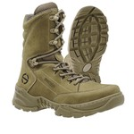 Bota Coturno Militar Tática Airsoft Paintball Adventure Mithos Coyote Oliva