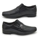 Sapato Masculino Social Fortaleza Couro com fivela - Preto
