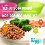 """Doe 1kg de """"carne moída"""" de soja temperada para cestas básicas e nós doamos + 1kg"""