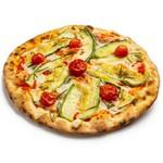 Pizza Vegana de Abobrinha e Tomate cereja