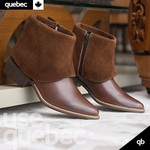 Bota Feminina Quebec London Caramelo