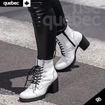 Bota Feminina Quebec Chicago Branca