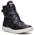 Tênis Masculino Rock Fit The Clash Preto Skull