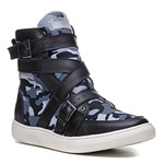 Tênis Cano Alto Feminino Rock Fit The Clash Preto Camuflado