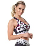Top Fitness Feminino Rock Fit Phanter Paint